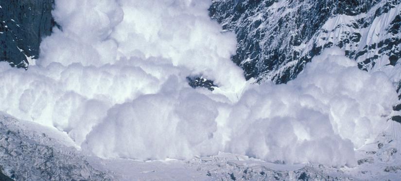 Avalanche de neige fraiche