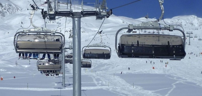 Une station de ski en France