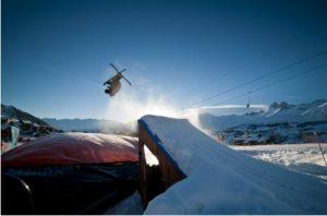 Un saut sur big air