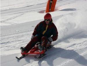 Une descente en speedel snow