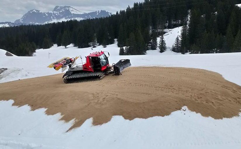 La station de Bessans stocke 10800 mètres cubes de neige pour préparer la prochaine saison